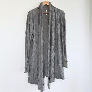 Margaret O'Leary puckered cotton cardigan in grey